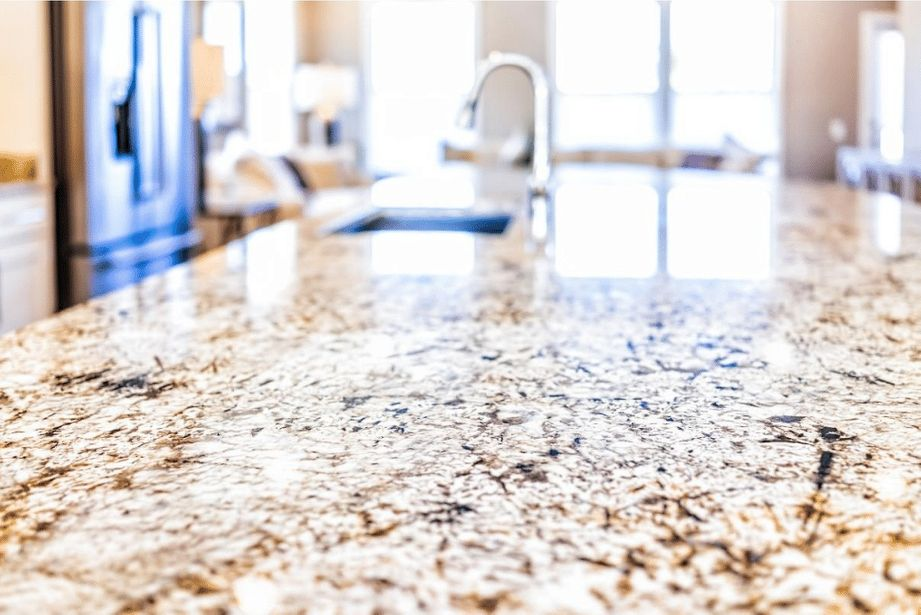 Kitchen countertop in a house