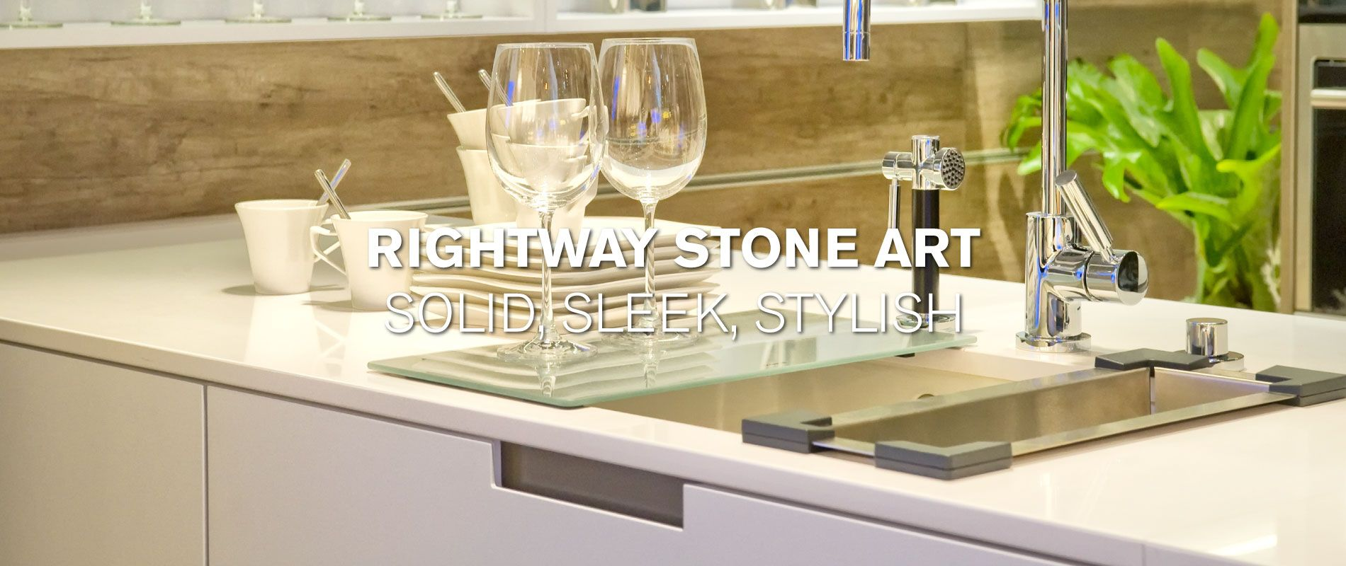 Rightway Stone Art | Solid, Sleek, Stylish | Modern kitchen sink